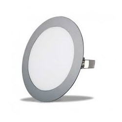 Downlight redondo empotrar color plata