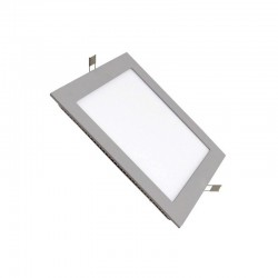 Downlight cuadrado empotrar color plata