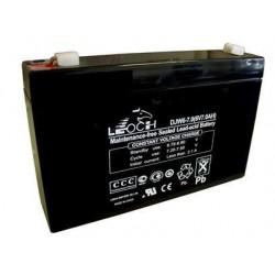 Bateria plomo 6 V-7.5A, medidas 150 x 93 x 35 mm