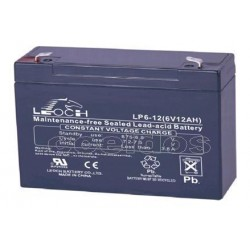 Bateria plomo 6 V-12 A, medidas 150 X 93 X 49 mm
