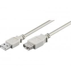 CONEXIÓN USB-A 2.0 MACHO-HEMBRA USB-A 2.0