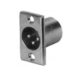 CON-159  CONECTOR XLR - 3 CONTACTOS - CHASIS - NIQUELADO - MACHO