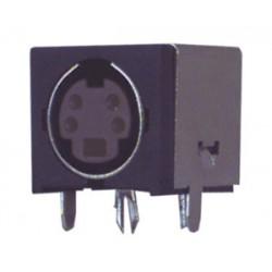 CONECTOR MINI-DIN HEMBRA CHASIS 4P.