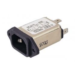 CONECTOR IEC 320 MACHO DE CHASIS CON FILTRO