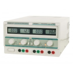 PS230210 DOBLE FUENTE DE ALIMENTACIÓN PARA LABORATORIO 2 x 0-30V & 5V / 2 x 0-10A 4 DISPLAYS LCD