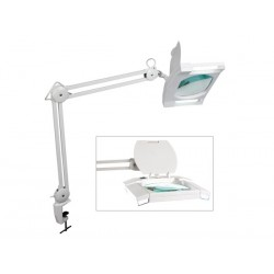 VTLAMP3WN LÁMPARA CON LUPA - 2x9W - COLOR BLANCO